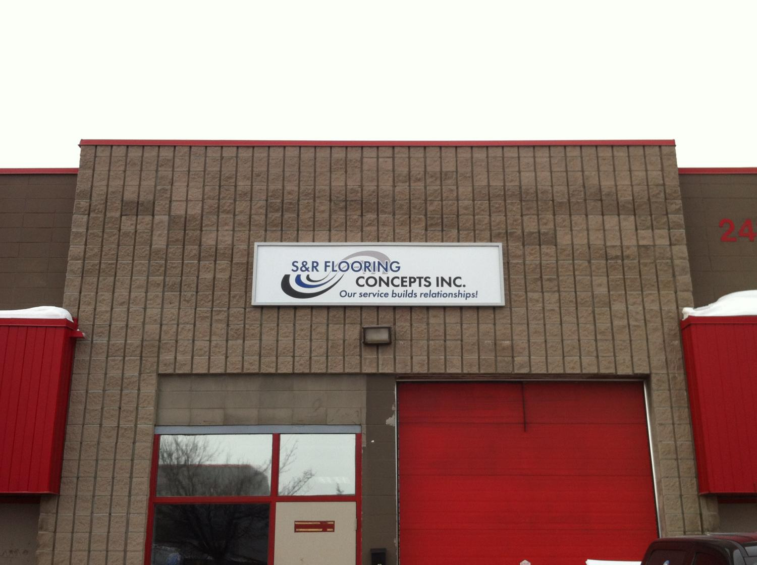 S R Flooring Concepts Inc Exterior Graphics Orleans Sign